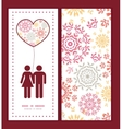 folk floral circles abstract couple in love vector image vector image