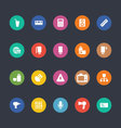 Glyphs Colored Icons 6 vector image vector image