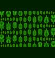 green leaf of rowan on dark background vector image