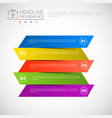 headline infographic design business data graphic vector image
