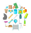 home repair icons set cartoon style vector image vector image