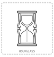 Hourglass Flat linear icon isolated on white vector image
