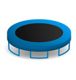jumping trampoline icon realistic style vector image