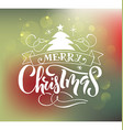 Lettering Merry Christmas for ChristmasNew Year vector image vector image