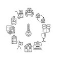 line art icon infographic set for moving thin vector image