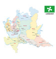 lombardy administrative and political map with vector image vector image