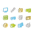 media equipment icons vector image vector image