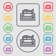 Newspaper icon sign symbol on the Round and square vector image vector image