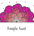 perfect romantic card template with pink flower vector image vector image