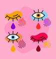 pop art eyes vector image