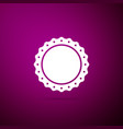 quality emblem icon isolated on purple background vector image vector image