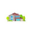 real estate private building villa cottage icon vector image