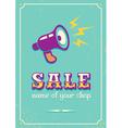 Sale megaphone retro