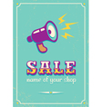 Sale megaphone retro vector image vector image