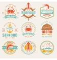 Seafood Colored Restaurant Emblems vector image vector image