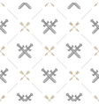 Seamless background with swords and arrows vector image