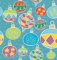 seamless christmas globes vector image vector image