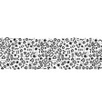 seamless doodle border memphis style pattern vector image vector image