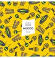 Seamless pattern of tourist attractions Mexico vector image vector image