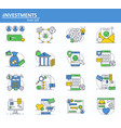 set of digital money services finance and vector image vector image
