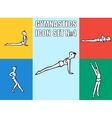 Set of yoga poses Boy in recreation activities vector image