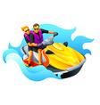 Ski jet ride vector image vector image