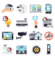 smart home icon set vector image vector image