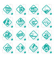stylized online shop e-commerce and web site icon vector image vector image