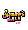 summer sale abstract hand lettering gard vector image