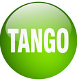 tango green round gel isolated push button vector image vector image