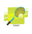 tennis ball and racket icon vector image vector image