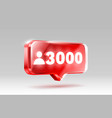 thank you followers peoples 3k online social vector image vector image