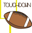 Touchdown vector image vector image
