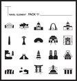 Travel Element Line Icon Set 11Landmark thin icons vector image