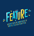 trendy comical condensed font design colorful vector image