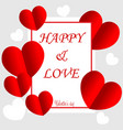 valentines day background with balloons heart vector image vector image