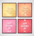 Vallentines Day flat design lettering vector image