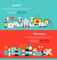 website medicine banners vector image vector image