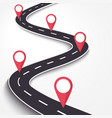 winding road on a white isolated background road vector image vector image