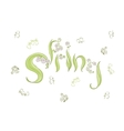 Cute hand drawing and lettering spring vector image