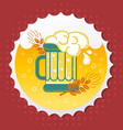 icon beer emblem vector image