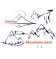 mountains set vector image