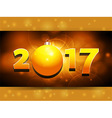 2017 landscape panel background with Christmas vector image vector image