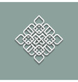3d pattern in arabic style vector image