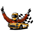 a a race car driver in vector image vector image