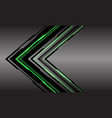 abstract green line light cyber arrow direction vector image vector image
