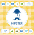 Abstract hipster silhouette with bowler hat