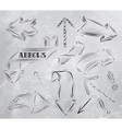 Arrow stylized drawing in charcoal on board vector image vector image