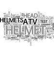 atv helmet text word cloud concept vector image vector image