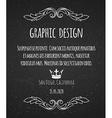 Black chalk board template vintage frame vector image vector image